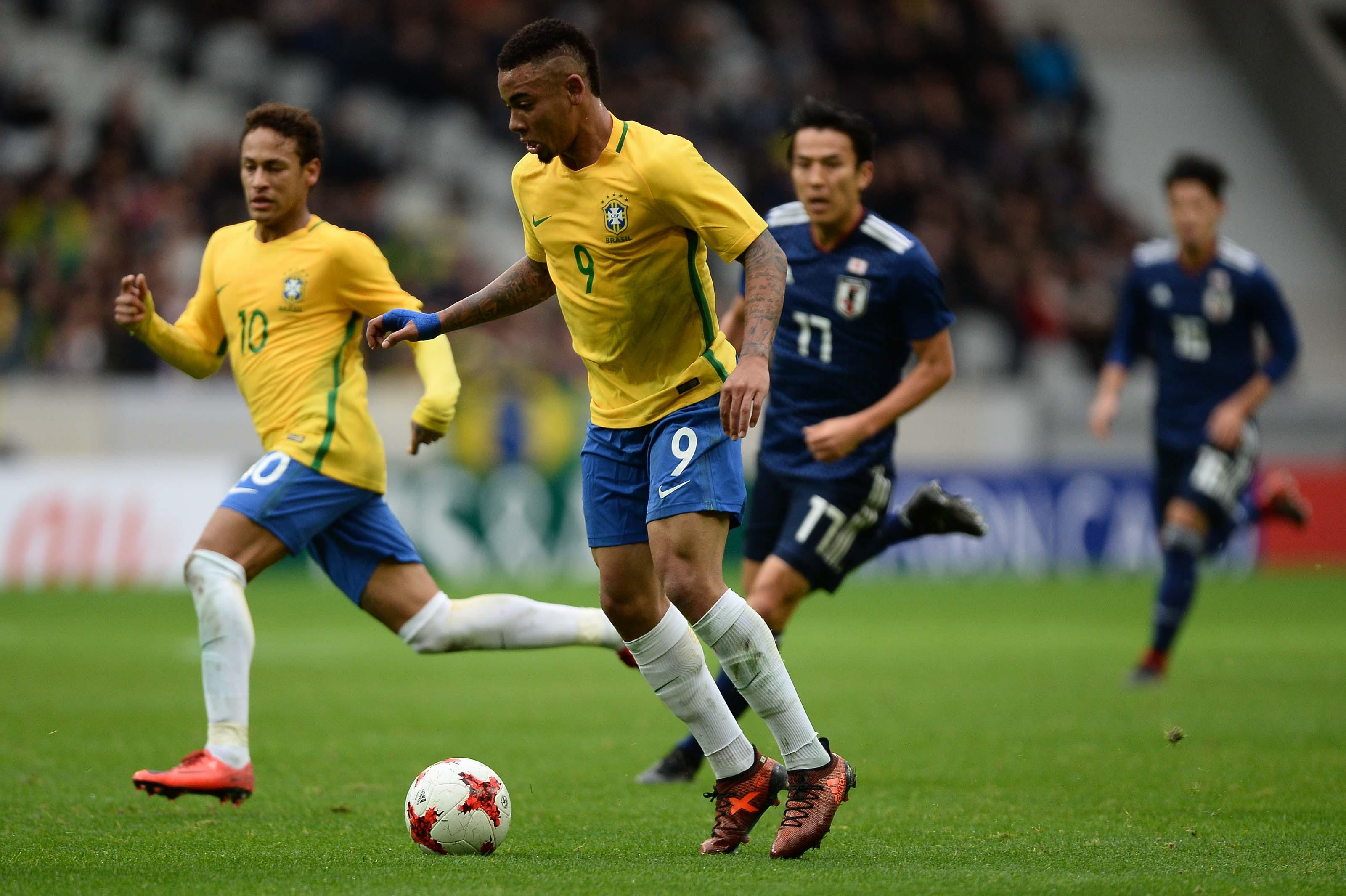 Neymar. Gabriel Jesus. Friendly. Lille. Japan
