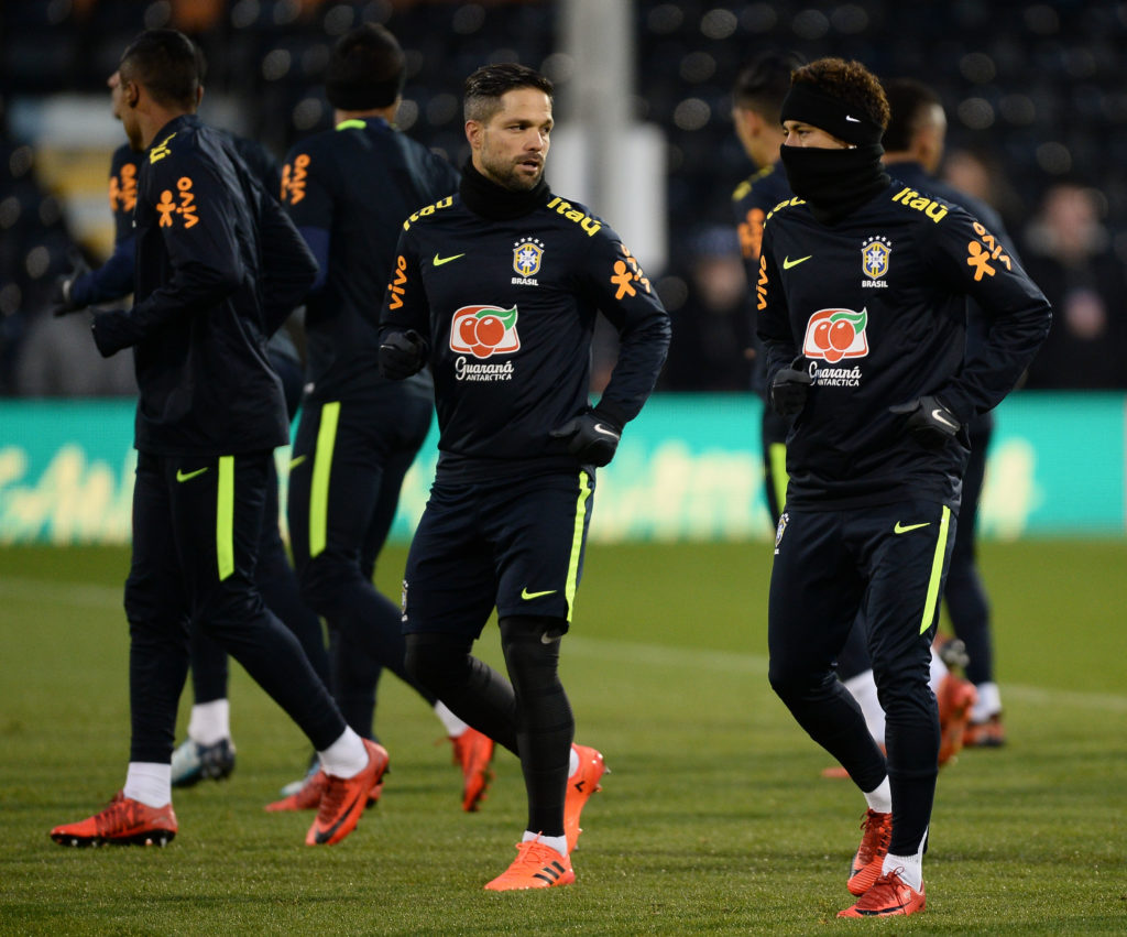 Brazil train ahead of match with England at Wembley